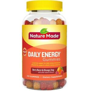 Nature Made Daily Energy Gummies with Vitamin 70 Count Berry Burst & Orange Zest