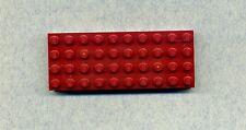 Lego -- 6212 -- placa de masa --- convención -- rojo/dkred -- 4 x 10 -- Dick --