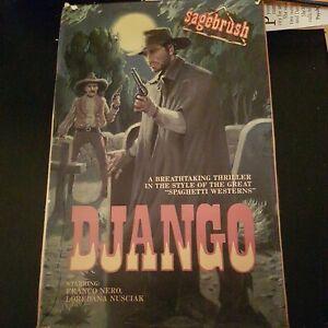 DJANGO NERO SPAGHETTI WESTERN VHS - OVERSIZED CARTON - NTSC - RENTAL