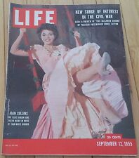 LIFE MAGAZINE SEPTEMBER 12 1955 JOAN COLLINS MARCIANO PHIL SILVERS THAW-WHITE