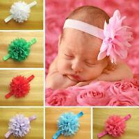 Newborn Baby Girl's Chiffon Flower Hairband Toddler Elastic Headbands