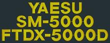 Yaesu FTDX-5000D and SM-5000 Combo Ham Radio Amateur Radio Dust Cover