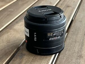 Sony 50mm f1.4 a-mount lens