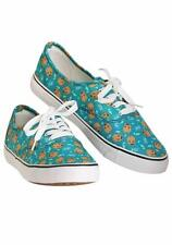 Womens 9.5 I am Groot Teal Womens Canvas Shoes - Marvel