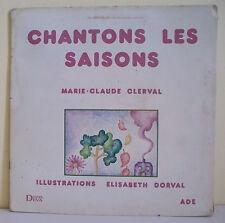 33T Hélène JEANEAU Chante Marie Claude CLERVAL Disque LP CHANTONS LES SAISONS