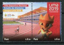 More details for peru 2019 mnh lima pan american games 2v set athletics sports stamps