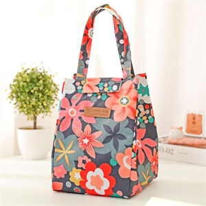 Portable Insulated Lunch Bag Cute Women Kids Pracitical Picnic Tote Box BT