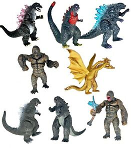Brand New Set of 8 King Kong vs Godzilla Toys Action Figures Birthday Gift