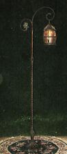 Antique revolutionary war period bronze adjustable candle powered floor lamp