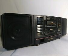 VTG JVC PC-X200 CD TAPE 3D Hyper Bass Boombox/Ghetto Blaster AC 120 AC 220 1990