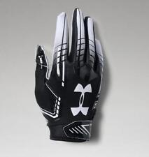 Under Armour Pee Wee UA F6 Boys Football Gloves 1304696-001 Black/White OSFA