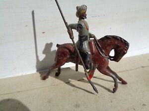 vintage rare Britains, British Indian Lancers cavalry on Horse lead vintage, TD