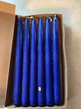 Retired New Partylite Royal Blue 10� Taper Hand Dipped Candles Unscented (6)