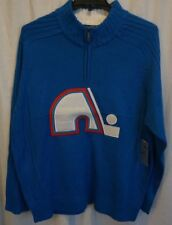 1bc16351a NHL VINTAGE Hockey Quebec Nordiques Acrylic Blue Sweater XL NWT