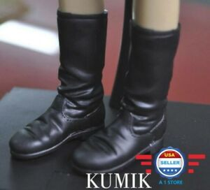 KUMIK 1/6 scale Black Boots HOLLOW for 12'' Female Figure Doll Phicen