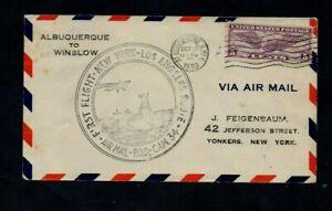 1930. 1st FLIGHT ILLUS COVER. LOS ANGELES-NEW YORK AIR MAIL. 'ALBUQUERQUE' D/S.