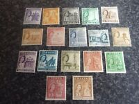 MALTA POSTAGE & REVENUE STAMPS SG266-282 MOUNTED-MINT