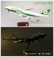 1/157 EVA AIR Boeing 747 Airplane Model 47 cm Aircraft LED Voice Lamp Plane Toy