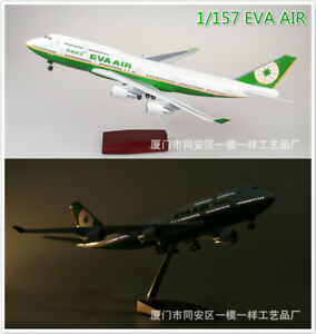 1/157 EVA AIR Boeing 747 Airplane 47cm Aircraft Plane Model Collectible Toy