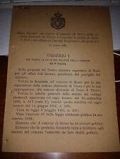 REGIO DECRETO  SEP  MOZZO DA CURNO E AGGREGA PONTE S. PIETRO CAPRINO BERGAMASCO