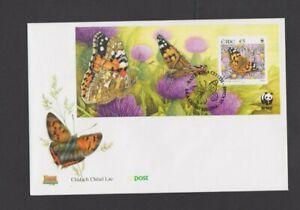 Ireland 2005 Butterflies M/Sheet  FDC  per scan