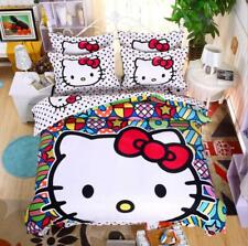 Colored Ball Hello Kitty Kids Bedding Set Duvet Cover Bed Sheet Twin Full queen