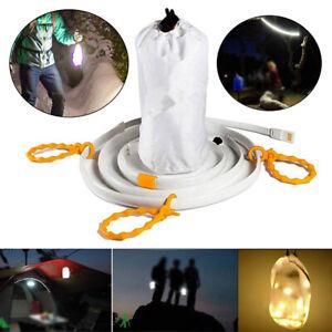 5V LED Waterproof Hiking Camping Emergency USB Light Strip Tent Lamp Rope Tool