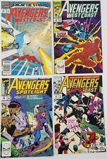N) Lot of 4 Marvel Avengers West Coast Spotlight Comic Books