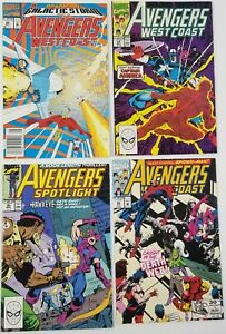 N) Lot of 4 Marvel Avengers West Coast Spotlight Comic Books