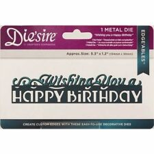 Crafters Companion Diesire Wishing You a Happy Birthday Die DS-EDG-HAP