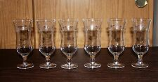 6 PRINCESS HOUSE HERITAGE CRYSTAL PARFAIT GLASSES #423