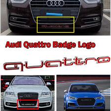 Red RS Style Quattro Badge Grille Emblem For Audi A1 A3 A4 A5 A6 A7 A8 Q3 Q5 TT