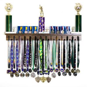 3' Medal Award Display Rack and Trophy Shelf Lanyard Medal Hanger