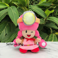 "Super Mario Bros. Plush Captain Toadette 8"" Toad Lovely Cartoon Stuffed Toy Doll"