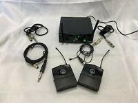 AKG SR 40 Mini Pro 2 -wireless Micropone system w/ 2 PT 40 Mini Pro beltpack TX