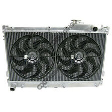 "CXRACING Aluminum Radiator for 90-97 MIATA MX5 MT + 12"" Fan"