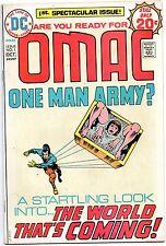 Omac #1 DC Comics Jack Kirby 1974 No Ink Stamp VF-