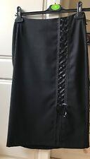 Front Slit black Skirt size 10