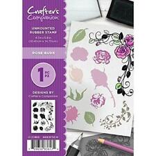 Crafters Companion - Unmounted A6 Rubber Stamp - Rose Buds