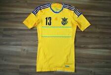 ADIDAS TECHFIT UKRAINE NATIONAL TEAM HOME FOOTBALL SHIRT 2011-2014 JERSEY SIZE M