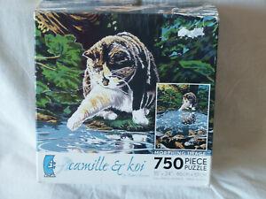 Ceaco Camille & Koi by Robert Kercher 750 Piece Puzzle Cat & Fish Metamorphosis