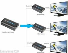(1 SENDER+ 3 RECIVERS) 120m HDMI Network Extender Over Ethernet LAN RJ45 CAT5E/6