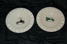 Royal China Cigar Ashtray Set 2  USA Auto Automobile Cadillac 1903 Winton 1898