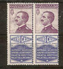Briefmarken Italien 1924/25 mit Reklamefeld gest. R2/9 * Paar