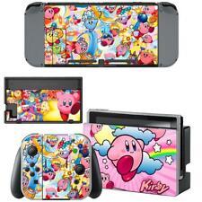 Nintendo Switch Console Joy-Con Dock Vinyl Skin Sticker Decal Pokemon Kirby Cute