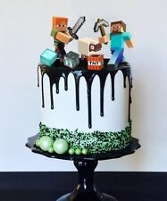 Set of Minecraft Cake Toppers