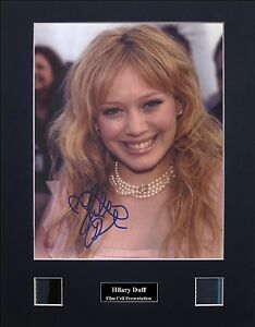 Hilary Duff Version 1 Signed Photo Film Cell Presentation