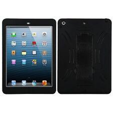 For Apple iPad AIR - HARD&SOFT RUBBER HYBRID ARMOR KICKSTAND CASE COVER BLACK