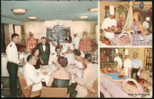 SS HOMERIC Home Lines Ship Dining Room Buffet Vtg PC Postcard