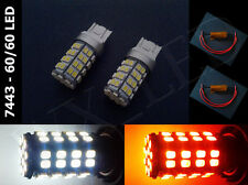 7443 7444 White Amber Switchback 60/60 120 Led Light Bulbs With Resistors Type 1